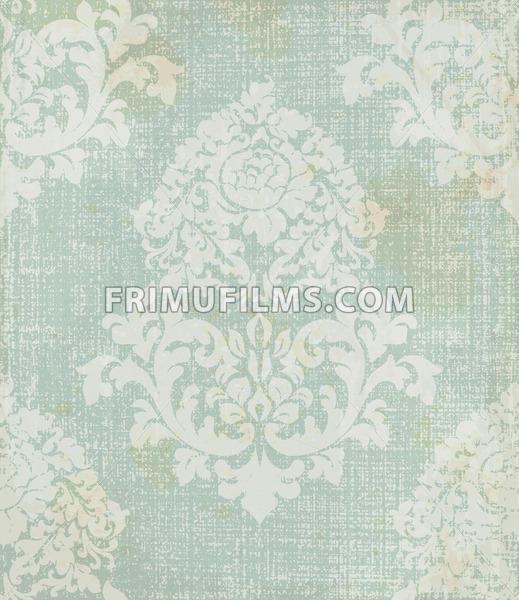 Elegant baroque pattern background Vector. Rich imperial decors. Royal victorian texture blue color - frimufilms.com