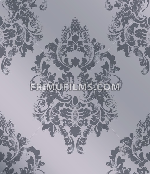 Elegant baroque pattern background Vector. Rich imperial decors. Royal victorian texture trendy color - frimufilms.com