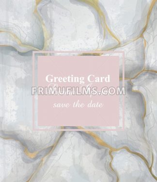 Greeting card golden gray marble background Vector. Luxury stone pattern texture - frimufilms.com
