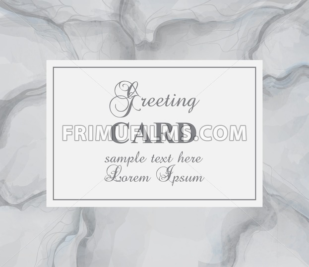 Greeting card with gray marble background Vector. Luxury stone pattern texture - frimufilms.com
