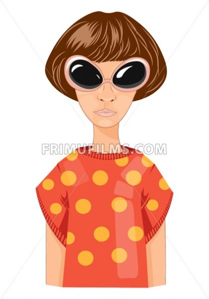Modern woman with short hair Vector cartoon illustration - frimufilms.com
