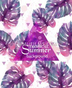 Summer Tropic palm leaves Vector. Exotic hot background illustration - frimufilms.com