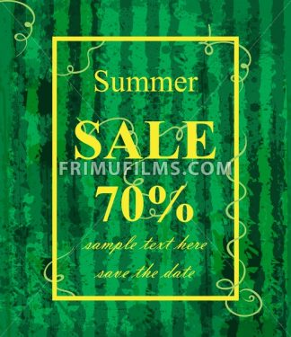 Summer sale template Vector. Watermelon texture background. Green trendy color - frimufilms.com