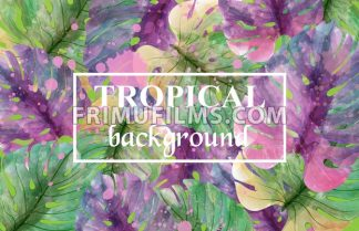 Tropic palm leaves Vector. Exotic summer background illustration - frimufilms.com