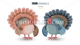 Turkey isolated Vector. cartoon characters funny illustration - frimufilms.com