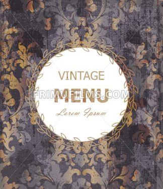 Vintage Baroque style background Vector. Luxury Delicate Classic ornament. Royal Victorian decor - frimufilms.com