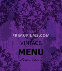 Vintage Baroque style background Vector. Luxury Delicate Classic ornament. Royal Victorian decor. Ultra violet color - frimufilms.com