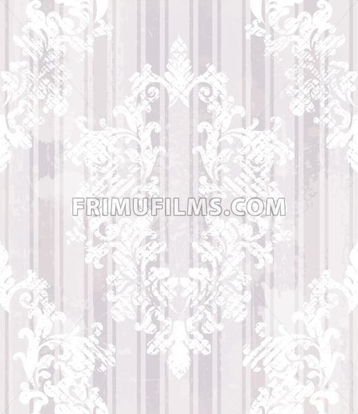 Vintage baroque pattern background Vector. Rich imperial decors on grunge texture. Royal victorian texture lilac trendy color - frimufilms.com