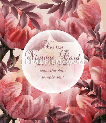 Vintage flowers Vector. Wallpaper floral decor beauty spring summer flower - frimufilms.com