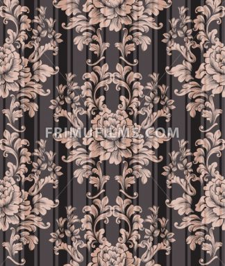 Vintage ornament pattern Vector. Baroque classic background. Royal victorian texture. Old painted style decor design - frimufilms.com