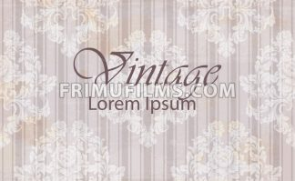 Vintage pattern baroque ornamented background. Old effect texture decor - frimufilms.com