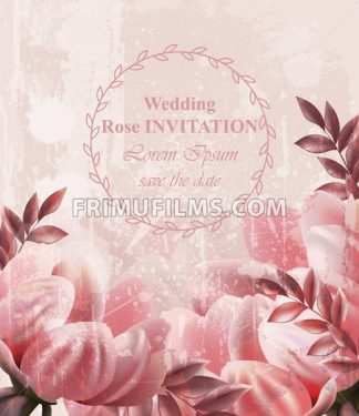 Wedding Invitation Vintage flowers Vector. Wallpaper floral decor beauty spring summer decor - frimufilms.com