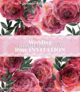 Wedding invitation Vintage roses background Vector. Floral card retro decor - frimufilms.com