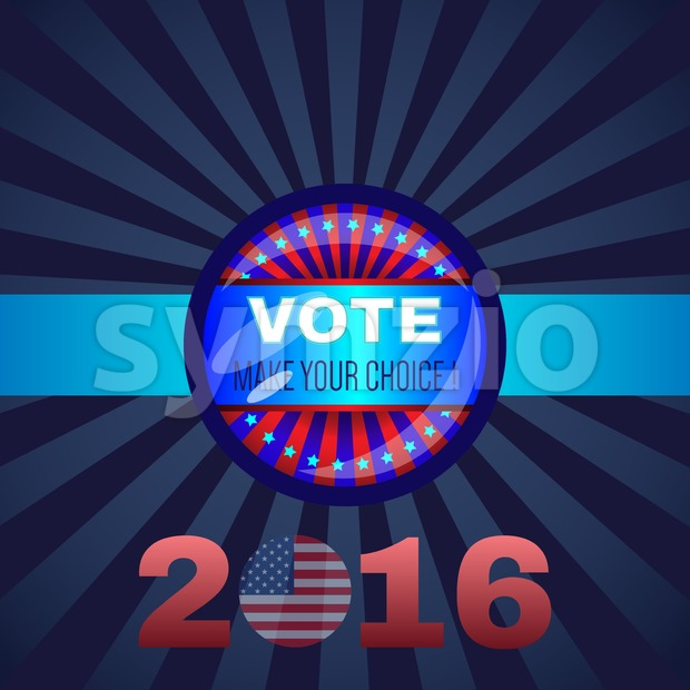 Digital vector usa election with presidential vote, republican vs democrat, make your choise,  flat style Stock Vector
