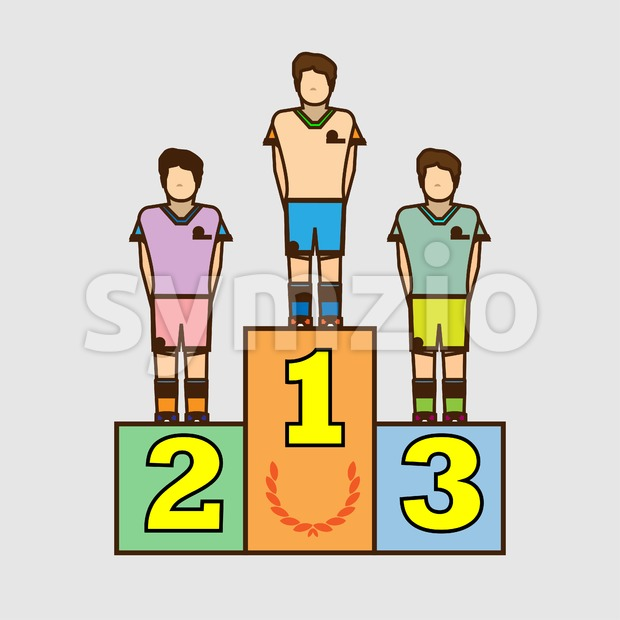 Winners podium design. Digital vector image. Stock Vector