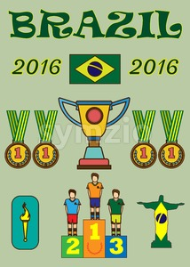 Brazil 2016 sport infographics. Digital vector image. Stock Vector