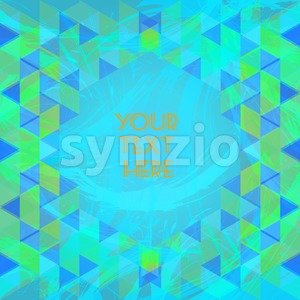 Abstract green and blue design with your text here and colored triangles. Digital vector image Stock Vector
