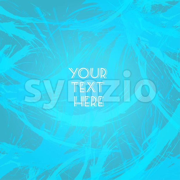 Abstract blue design with your text here big brush strokes. Digital vector image Stock Vector