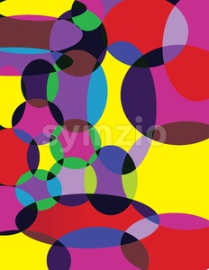 Abstract circle colorful composition. Digital background vector illustration. Stock Vector
