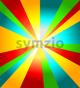 Colored abstract background with red, blue, yellow and green lines, digital vector image Stock Vector