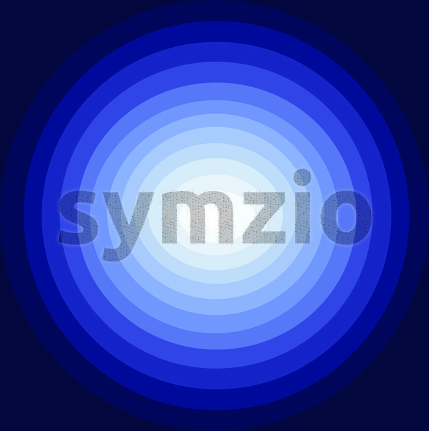 Abstract background with blue circles descending to the centre in white color, digital vector image Stock Vector