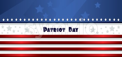 Vector Patriot Day, with blue and red stripes and stars. Stock Vector