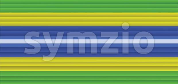Brazil flag in horizontal lines style. Digital vector image Stock Vector