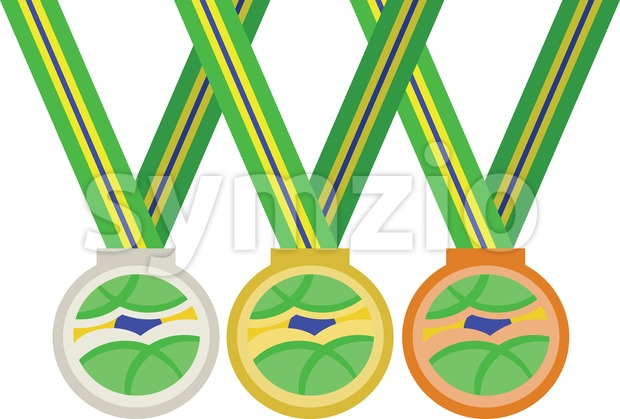 Colored medals. Digital vector image Stock Vector