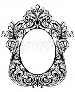 Fabulous Baroque Mirror frame set. Vector French Luxury rich carved ornaments. Victorian wealthy Style furnitures Stock Vector