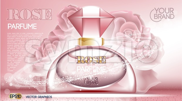 Perfume bottle Cosmetic mock up Stock Vector