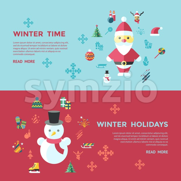 Digital vector christmas and new year holidays infographics set collection decoration objects color simple flat icon with fir tree, isolated