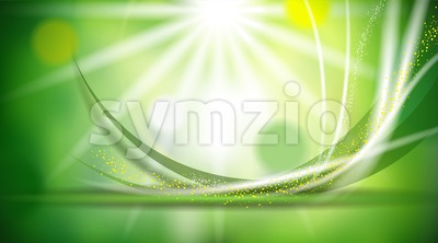 Digital vector abstract empty green colored Stock Vector
