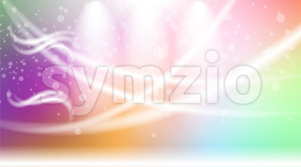 Digital vector abstract empty light rainbow Stock Vector