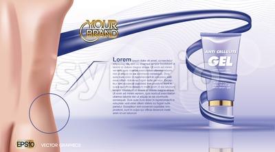 Digital vector blue violet anti cellulite skin Stock Vector