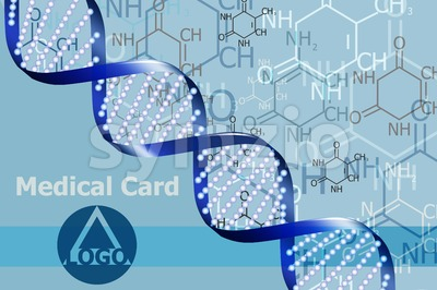 Medical card Vector. DNA abstract formula background. logo design Stock Vector