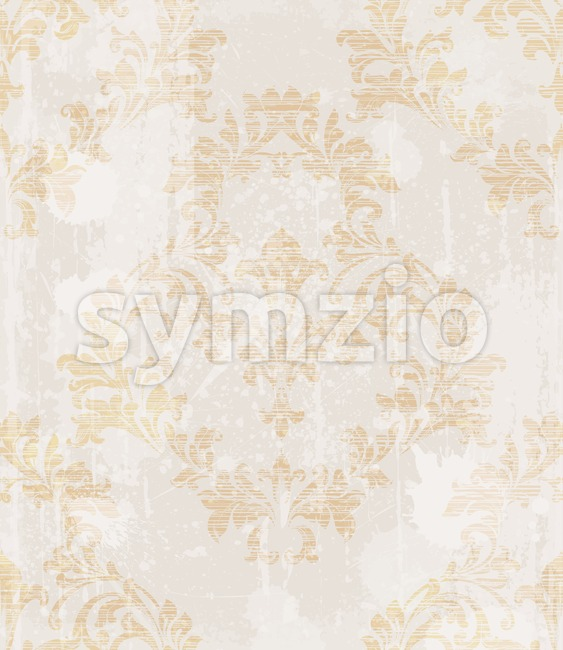 Baroque pattern vintage background Vector. Ornamented texture luxury design. Original textile decor Stock Vector
