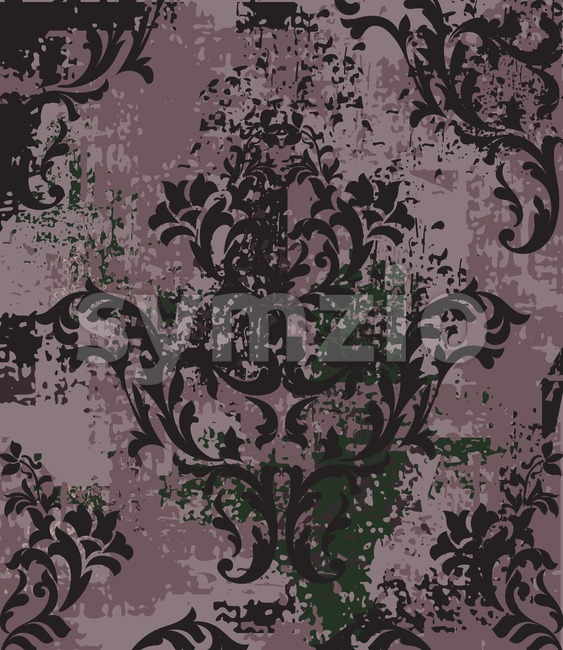 Imperial Baroque pattern vintage background Vector. Ornamented texture luxury design. Royal textile decor Stock Vector