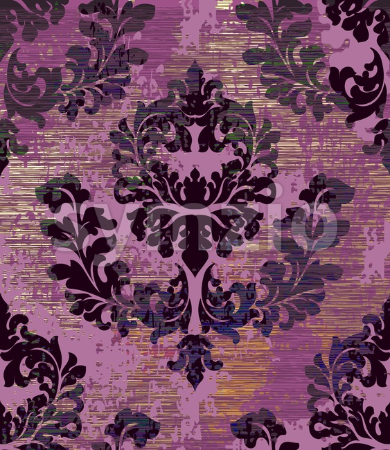Baroque pattern background Vector. Ornamented texture luxury design. Vintage Royal textile decor Stock Vector
