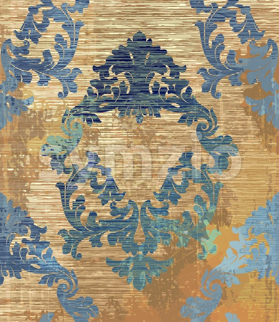Baroque pattern background Vector. Ornamented texture luxury design. Vintage Royal textile decor