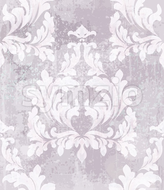 Imperial Baroque pattern background Vector. Ornamented texture luxury design. Vintage Royal textile decor Stock Vector
