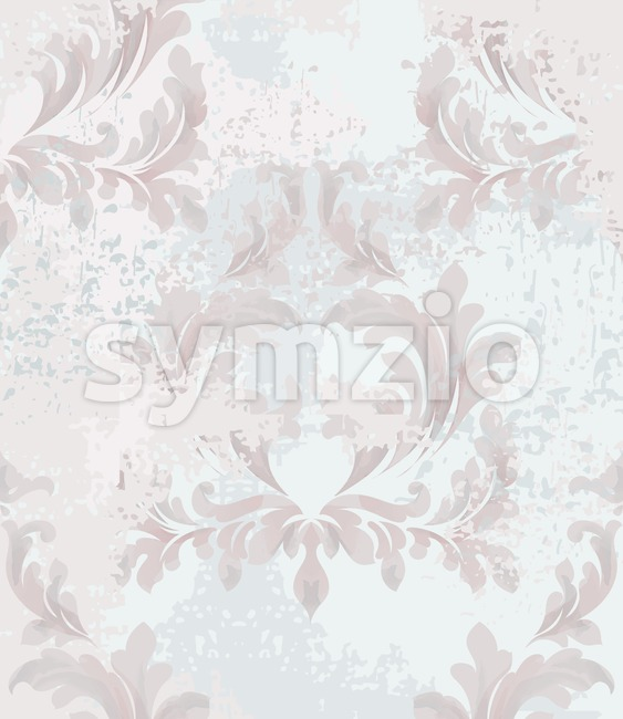 Rococo pattern background Vector. Ornamented texture luxury design. Vintage Royal textile decor Stock Vector