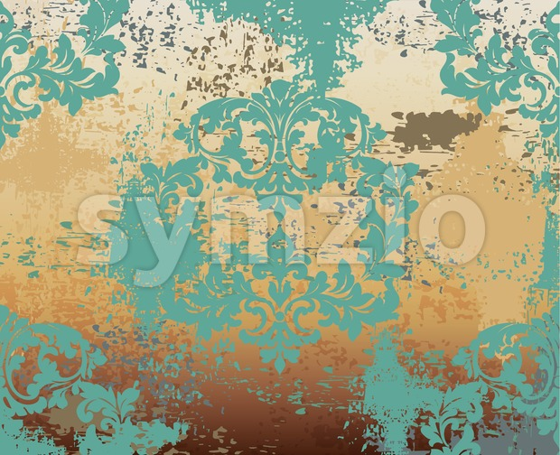 Baroque pattern vintage background Vector. Ornamented texture luxury design. Royal textile decor Stock Vector