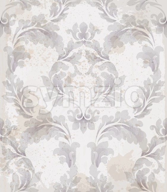 Baroque pattern vintage background Vector. Ornamented texture luxury design. Royal textile decor