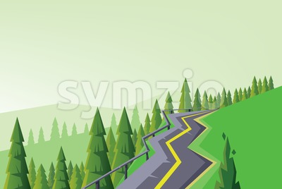 Digital vector abstract background with a road Stock Vector