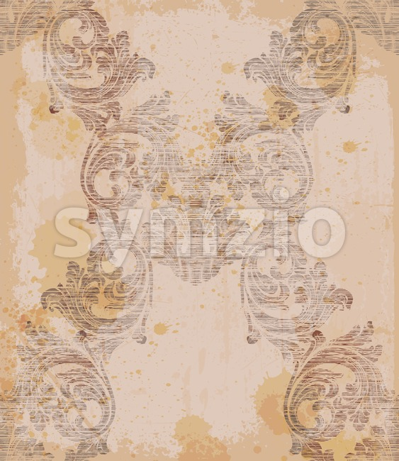 Damask pattern old ornament decor Vector illustration. Texture design Stock Vector