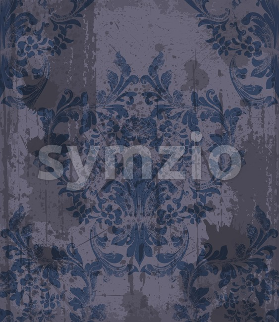 Damask pattern ornament decor Vector. Baroque grunge fabric texture illustration design Stock Vector
