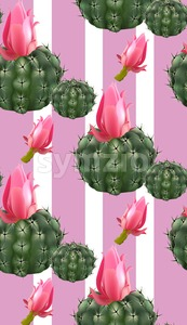Pink cactus abstract pattern background Vector illustration Stock Vector