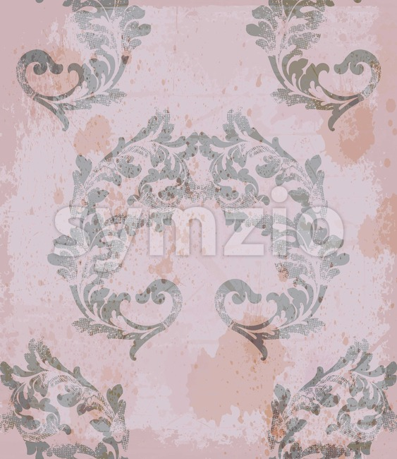 Classic royal pattern fabric. Vector damask ornament texture design Stock Vector