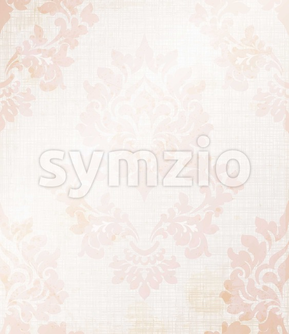 Baroque royal pattern fabric. Vector damask ornament texture design Stock Vector