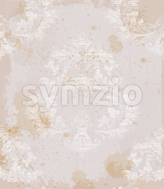 Damask old pattern ornament decor Vector. Baroque fabric texture illustration design Stock Vector